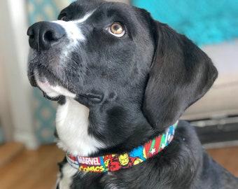 Marvel Comics Dog Collar