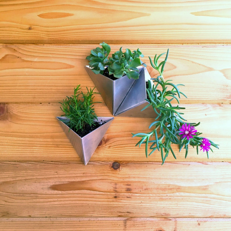 Tessellations  // Set of 3 //  Modern Wall Planter image 0