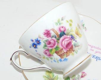 Dutchess  Teacup & Saucer Bone China England Anniversary -  1433