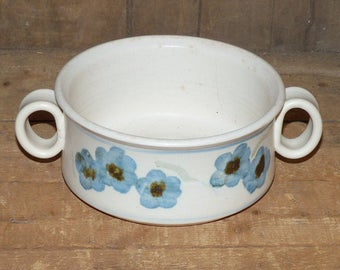 Hand Thrown Pottery Bowl with Handles -  1108