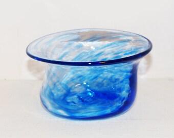 Handblown Glass Bowl  Blue -  1997