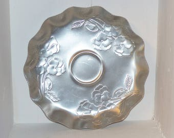 Made in Canada Vintage Aluminum Tray with Pansies - 1849