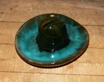 McMaster Canadian Art Pottery Coin or Ring Dish Cowboy Hat - 2300 03a125f81798