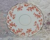 Antique Transferwear Plate Fine China Unmarked Floral Plate