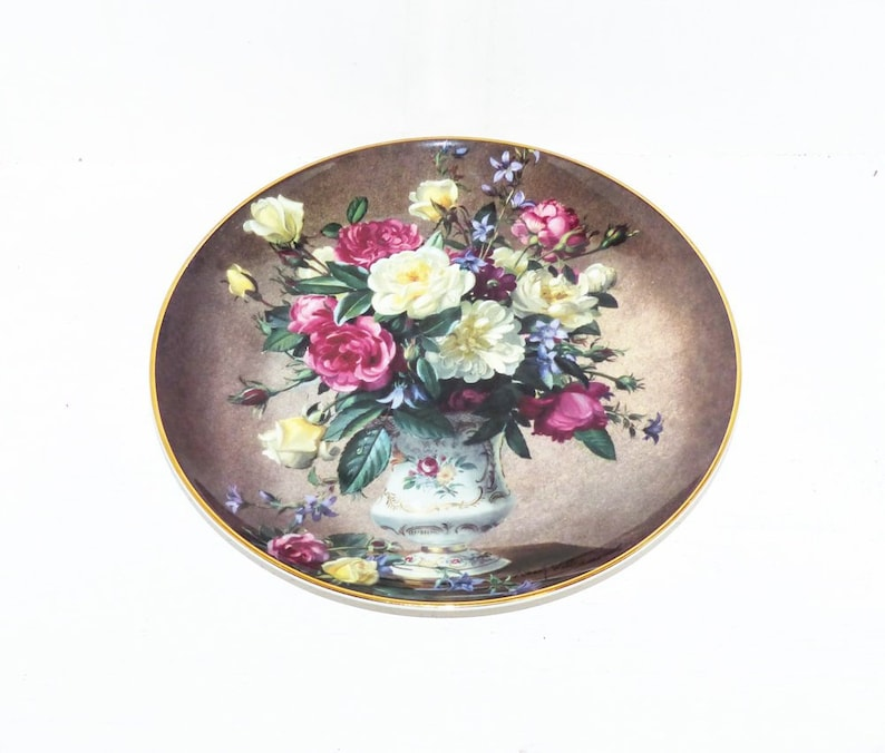 1944 Royal Doulton Rose Bouquet Plate For the Franklin Mint