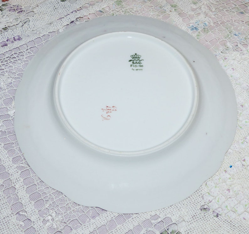 2509 BRC Fidelio Germany Desert Plate Vintage Fine Bone China