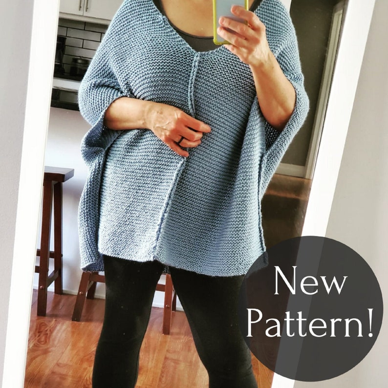 KNITTING PATTERN Meet Me For Coffee knitted sweater knit image 0