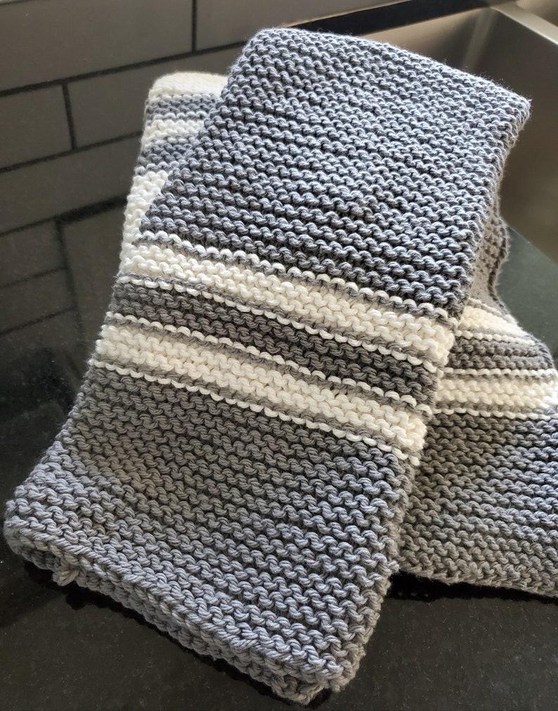 KNITTING PATTERN cotton knit dish towel retro dish towel ...