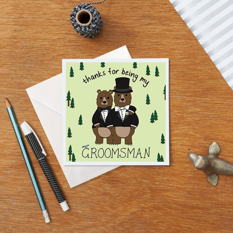 Thanks for Being My Groomsman Card Best Man Gift Groomsman Gift Wedding Thank You Funny Best Man Card Thank You Card Personalised