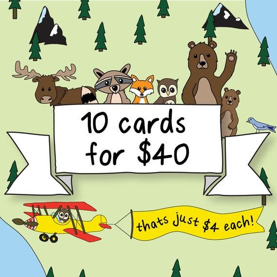 10 Cards Bulk Buy Bundle Christmas Card Pack Of