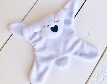Polar Bear, Lovie, Stuffed Animal, Baby Lovie, Baby Girl, Baby Boy, Baby Shower Gift, Baby Snuggie, Baby Lovie, Lovey