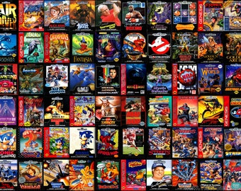 SEGA GENESIS or MEGADRIVE Custom Replacement Game Storage Case, 100's of Game Covers Available!!