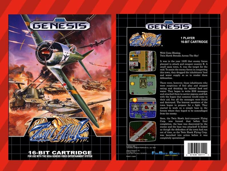 Twin Hawk Unreleased Sega Genesis Shooter WW2 style! SPECIAL ORDER