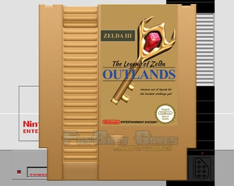 """IN STOCK! """"The Legend Of Zelda: Outlands"""" Hack Nintendo NES Action Role Playing Game!"""