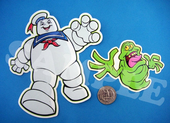 Ghostbusters Vinyl Stickers Set Slimer Amp Stay Puft Etsy