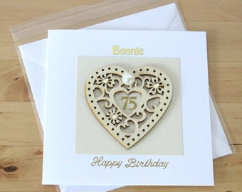 75th Birthday Card Gift Personalised Luxury For Woman Mum Mom Friend Age Cards Ori Fyne
