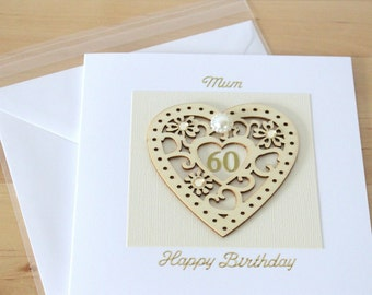 60th Birthday Card Gift Personalised Luxury Unique Age For Woman Mum Mom
