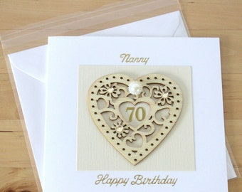 70th Birthday Card Gift For Woman Mum Mom Personalised Luxury Unique Age