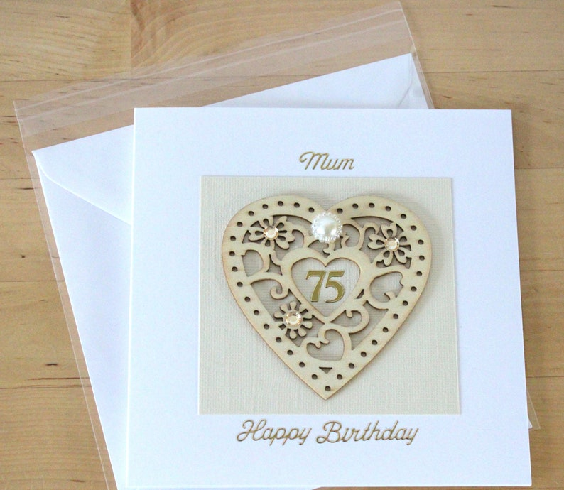 75th Birthday Card Gift Personalised
