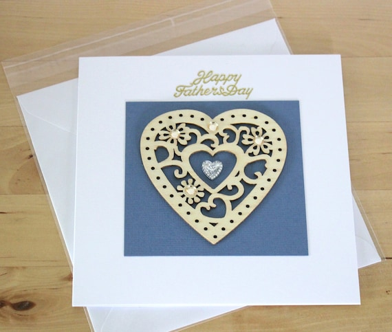 Unique Handmade Fathers Day Card Gift Handmade Heart Etsy