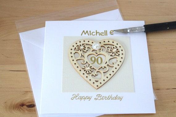 Handmade Birthday Card Personalised Mum Nan Gran Mam 60 70 80 90 95 100th