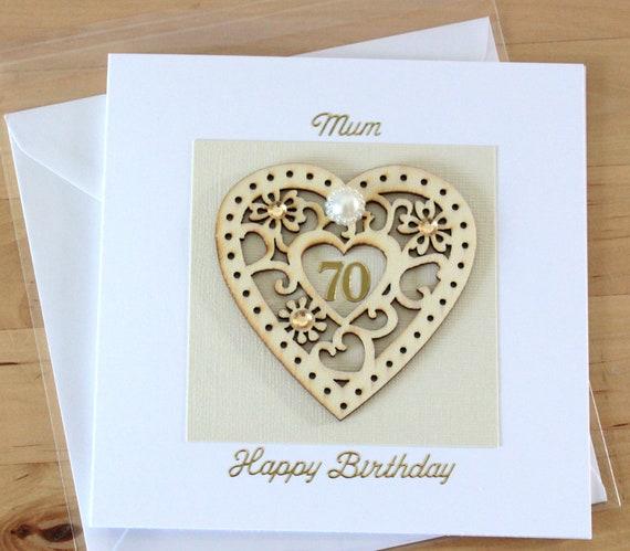 70th Birthday Card Gift 70 70th Birthday Card Mum Mom