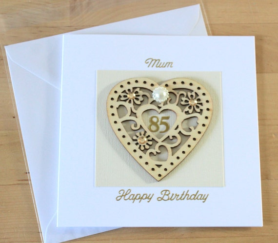 85th Birthday Card Gift Luxury Unique Wooden
