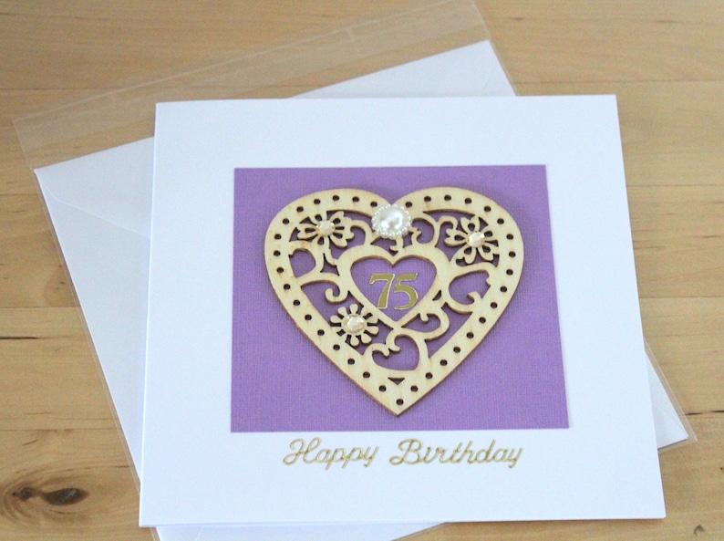 Age Birthday Card gift Wooden age Birthday Card gift for her woman Elegant  Age Birthday Card gift Luxury Unique Age Birthday Card gift