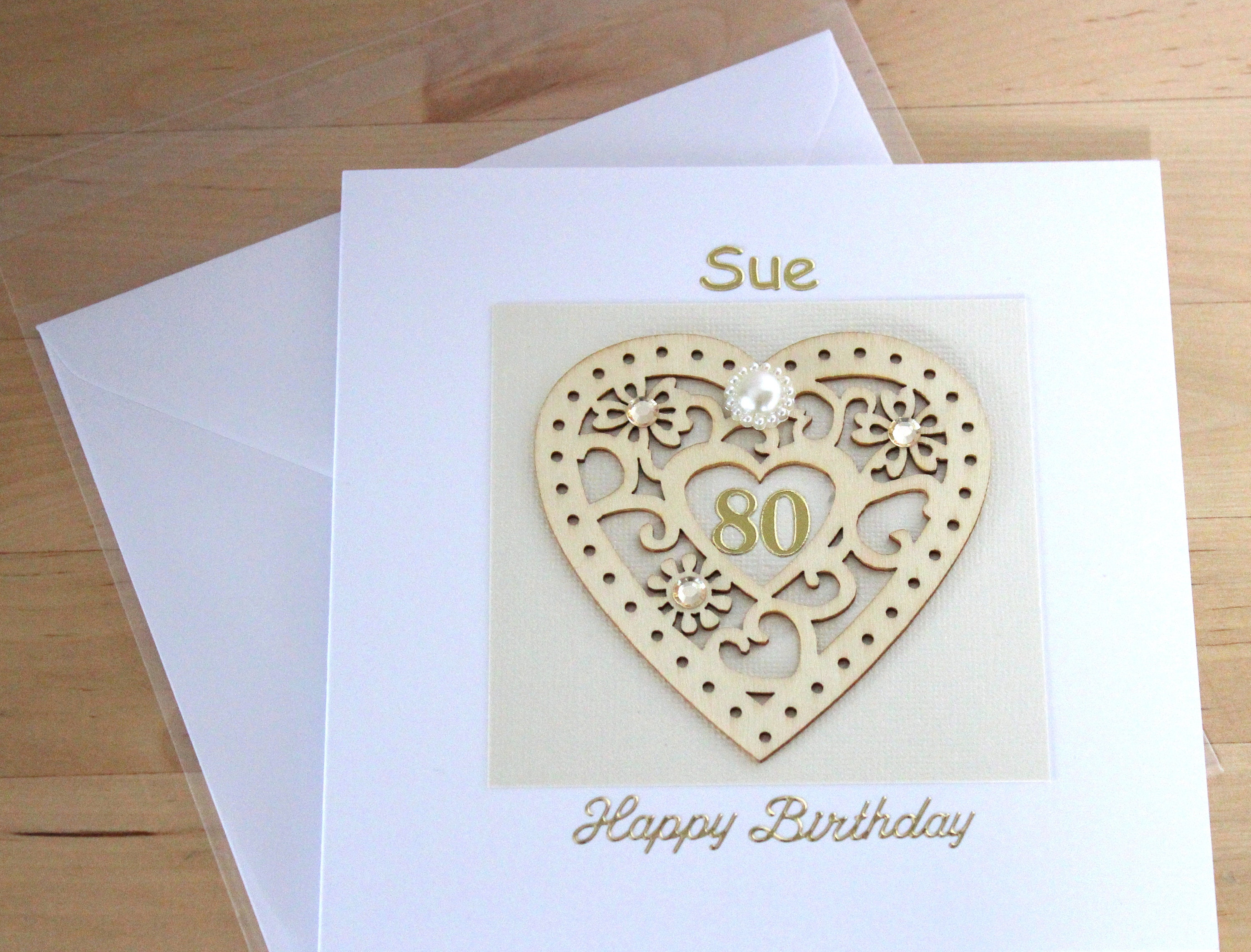 80th Birthday Card Gift For Woman Mum Mom Personalised