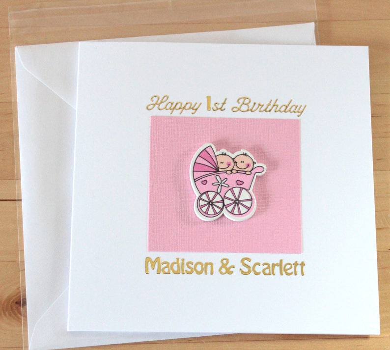 Twins Cards Twin Boys Girls 1st Birthday Card Gift