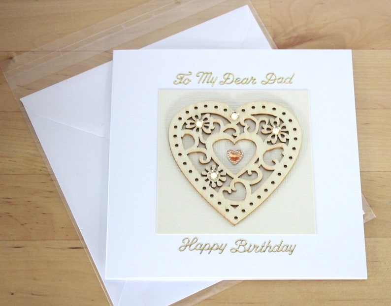 Dad Birthday Card Gift Luxury For Wooden