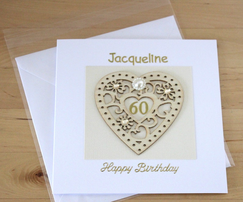 60th Birthday Card Gift For Woman Mum Mom Personalised
