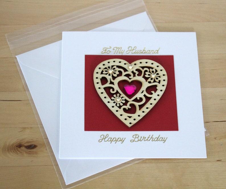 Husband Birthday Card Gift Wife Luxury