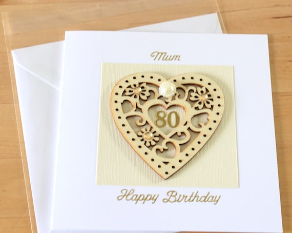 80th Birthday Card Gift 80 80th Birthday Card Mum Mom