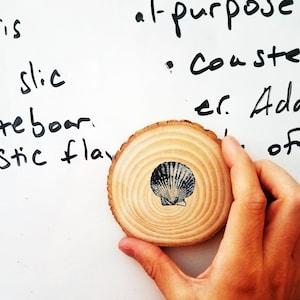 American Made American Reclaimed Wood Slice Tom Brady Dual Purpose Whiteboard Eraser  Office Coaster