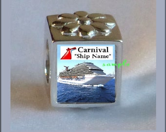 b4705c700 ... get carnival cruise bead any ship photo bead charm sterling silver .925  fits pandora style