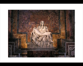 THE PIETA' Rome, Italy Art Original Photo By Artist..Offered in 5 x 7 size.