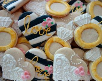 Wedding Themed Sugar Cookies