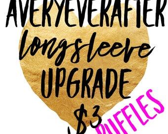 RUFFLES Long sleeve UPGRADE add on