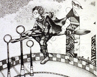 Original Harry Potter Whomping Willow And Flying Car Etsy