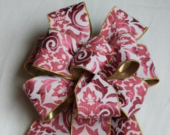 Pink Dust Damask Ribbon