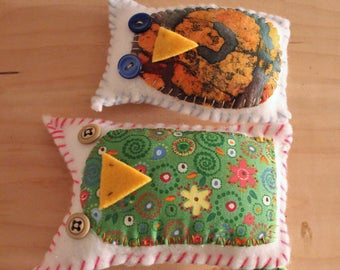 Patchwork Owls Set of Three