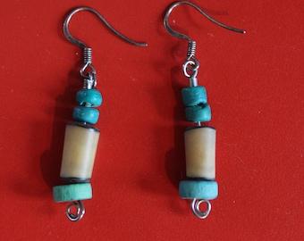 Turquoise Beaded Dangle Earring