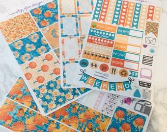 Autumn Rain Weekly Planner Sticker Kit | Erin Condren & Plum Paper Planner