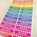 Hydrate Reminder Planner Stickers | Erin Condren & Plum Paper Palnner