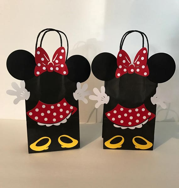 59ce37df0 Minnie Mouse Birthday Party Favor Bags   Etsy