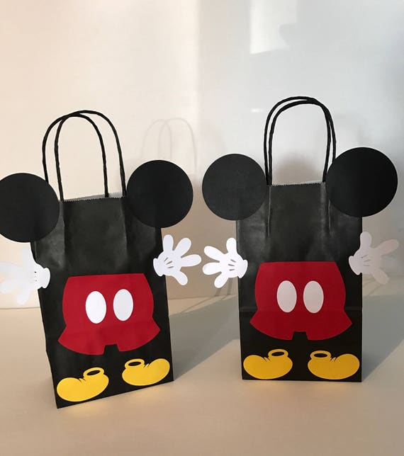 3bb4ce21a Mickey Mouse Birthday Party Favord Bags   Etsy