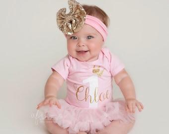 first birthday girl outfit, 1st birthday tutu outfit, pink tutu, princess birthday outfit, one year old girl birthday outfit tutu, crown