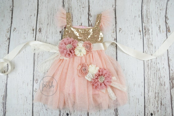 Flower girl dress blush flower girl dress flower girl etsy image 0 mightylinksfo