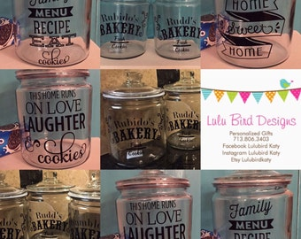 Personalized Cookie Jars-housewarming-client gifts-realtor gifts-wedding-cookie jar-corporate gifts-client gifts-customized with your logo